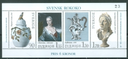 Sweden 1979 Swedish Rococo  MNH** - Lot A354 - Künste