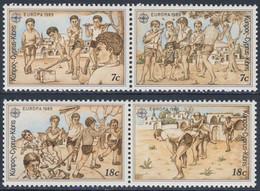 Cyprus Chypre Zypern 1989 Mi 715 /8 YT 712 /5 ** Children´s Games / Kinderspiele / Jeux D´enfants / Kinderspelen - Kindertijd & Jeugd