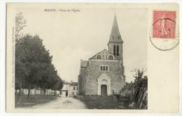 BRIOUX. - Place De L'Eglise. Très Belle Carte - Brioux Sur Boutonne