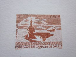 2003 Porte Avions Charles De Gaulle  > EPREUVE De Luxe ESSAI /épreuve Document Postal Philatélie - Ensayos