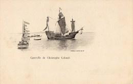 45Hy    Bateau Voilier Caravelle De Christophe Colomb DND En TBE (vue Pas Courante ) - Veleros