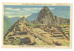 S2233-  Cuzco - Inca Ruins Of Machupicchu - Pérou