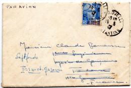 PLI PAR AVION CACHET DE DJIDJELLI ALGERIE - Algeria (1924-1962)
