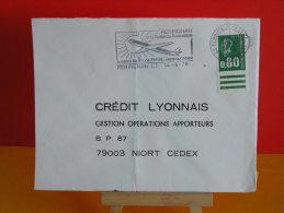 Flamme - 66 Pyrénées Orientales, Perpignan, Avion Quotidien - 14.4.1978 - Postmark Collection (Covers)