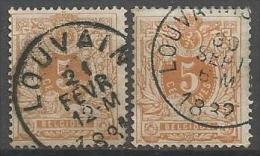 """Belgique - """"Lion Couché"""" - N°28 - Dent.14&15 - Obl. EC LOUVAIN - LOUVAIN(STATION) - 1869-1888 Lion Couché"""