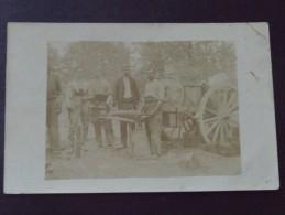 SOLDATS - CHARRONS - REGIMENT D´ARTILLERIE ? - Attelage - Carte-photo - 6 Juillet 1917 - WW1 - A Voir ! - War 1914-18
