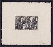 FRANCE - N° 608 - 4f + 6f  PETAIN Et La Chartre Du TRAVAIL -- Epreuve D'Artiste. Signé DECARIS.Luxe. - Prove D'artista