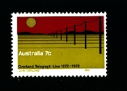 AUSTRALIA - 1972  OVERLAND TELEGRAPH LINE  MINT NH - Nuovi