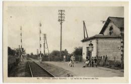 TERVES. - La Halte Du Chemin De Fer. - Superbe Cliché - Celles-sur-Belle