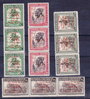 1944 - Croix Rouge, Rode Kruis - Ocb 150/153 *** NH en bande de 3 (per 3 zoals destijds verkocht !!) 1.25 fr voir descri