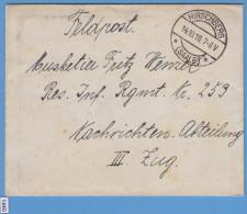 FELDPOST WW1; Briefstempel Hirschberg (Saale) 14.10.1918; Letter Inside - Guerre Mondiale (Première)