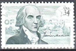 United States 2001  James Madison - Sc # 3545 - Mi 3503 - Used - Etats-Unis