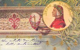 [DC5256] CARTOLINA - DANTE ALIGHIERI - SCENA ILLUSTRATA - Viaggiata 1902 - Old Postcard - Personaggi Storici