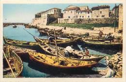 - Departs Div - Herault  - Ref Z930 -  Meze - Port Des Nacelles Et Remparts - Barques De Pecheurs - Carte Bon Etat - - Mèze