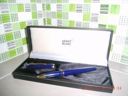 Stylo Couleur Bleu MONTBLANC GENERATION A Bille Noire Avec Son écrin D'origine - Penne