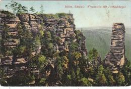 3590.   Bohm - Schweiz - Kreuzstein Mit Prebischkegel - 1924 - Boehmen Und Maehren