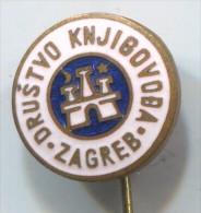 Company accountant - Zagreb, Croatia, enamel, vintage pin, badge