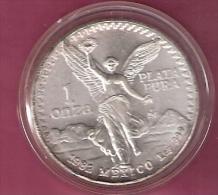 MEXICO ONZA 1982 SILVER 31.1 GRAM KM494.1 LIBERTAD - Mexique