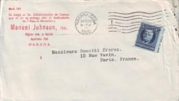 1917-H-162 CUBA. REPUBLICA. 1917. PATRIOTAS. 5c. SOBRE FARMACIA JOHNSON HABANA A PARIS FRANCE. FRANCIA. 1920. - Cuba