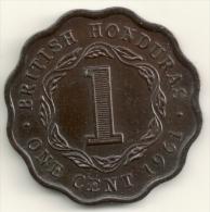 British Honduras 1 Cent  1961 KM#30 UNC - Colonies