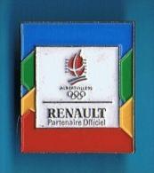 PIN´S //    . ALBERTVILLE 92 RENAULT PARTENAIRE OFFICIEL - Renault