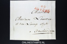 Belgium: Complete Letter From Antwerpen To  Amsterdam 1804 - 1794-1814 (Periodo Francese)