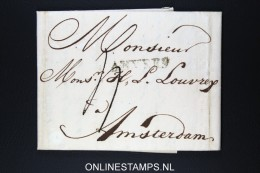 Belgium: Complete Letter From Antwerpen To Amsterdam 1815 - 1814-1815 (Governo Generale Del Belgio)