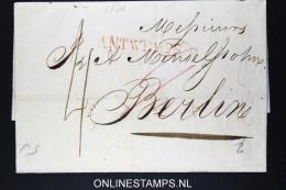 Belgium: Cover From Antwerpen To Berlin 1820 Duitsch Grensk. Te Henri Chapelle , Korteweg 144  RR - 1815-1830 (Dutch Period)