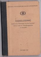 TREINEN-SPOORWEGEN-TRAINS-CHEMIN DE FER-BELGE-HANDLEIDING-ARBEIDSONGEVALLEN-BOEKJE-MET FOTOS-93BLZ-1950-ZIE 6 SCANS-TOP - Livres, BD, Revues