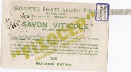 BUVARD   SAVONNERIES REUNIES ANASTAY FRERES- SAVON VITICOLE - Buvards, Protège-cahiers Illustrés