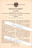 Original Patent - Carl Neumark In Nürnberg , 1899 , Bleistiftspitzer , Bleistift !!! - Sonstige