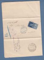 Italia 1947 - Avvento 2 Lire - Rispedizione Con 2 Lire Democratica (valori Gemelli) - 6. 1946-.. Repubblica