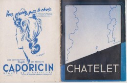 PROGRAMME CHATELET- - Programmes