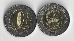VF MOEDA 10  KWUANZAS MOEDAS DE ANGOLA DE 2012 UNC - Angola
