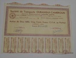 Transports Oubangui Cameroun, Anct Durand Ferté, Ss à Bangui - Transports