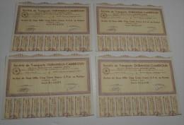 4 Titres, Transports Oubangui Cameroun, Anct Durand Ferté, Ss à Bangui - Transports