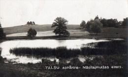 45Hy    Lettonie Talsu Carte Photo Apkartne Macitajmuizas Ezers - Lettonie