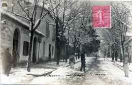 Carte Photo  ALGERIE  BOUIRA  En Temps De Neige   Quincaillerie Epicerie Centrale  1907  Carte Rare   -X- - Argelia