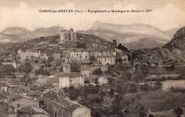 45Hy    83 Comps Sur Artuby Vue Generale Et Montagne De Brouis - Comps-sur-Artuby