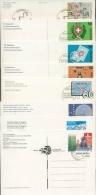Schweiz 8 Ganzsachen Mit Erstagsstempeln Aus 1990/98 (XL5472) - Sellos