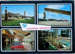 AK FLUGWESEN AERODROME FLUGHAFEN AIRPORT BEOGRAD   ALTE POSTKARTE 1977 - Aérodromes