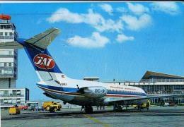 AK FLUGWESEN AERODROME FLUGHAFEN AIRPORT BEOGRAD JAT DC-9 FLUGZEUGE   ALTE POSTKARTE 1977 - Aérodromes