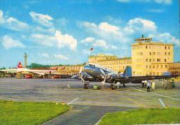 AK FLUGWESEN AERODROME FLUGHAFEN AIRPORT DÜSSELDORF FLUGZEUG ALTE POSTKARTE - Aerodrome
