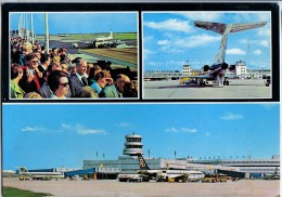 AK FLUGWESEN AERODROME FLUGHAFEN AIRPORT DÜSSELDORF FLUGZEUG ALTE POSTKARTE 1975 - Aerodrome