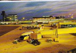 AK FLUGWESEN AERODROME FLUGHAFEN AIRPORT AMSTERDAM SCHIPHOL F FLUGZEUG ALTE POSTKARTE 1971 - Aerodrome