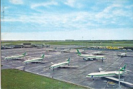 AK FLUGWESEN AERODROME FLUGHAFEN AIRPORT AMSTERDAM SCHIPHOL F FLUGZEUG  CARAVELLES BOING 707ALTE POSTKARTE - Aérodromes