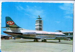 AK FLUGWESEN AERODROME FLUGHAFEN AIRPORT BEOGRAD  EX YUGOSLAVIA FLUGZEUG CARAVELLE  ALTE POSTKARTE 1966 - Aérodromes