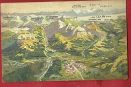 DDI-07  Panorama De Bulle Et Environs Jusqu'au Lac Léman. Envoyé Par Un Militaire à Montbovon Sous Enveloppe - FR Fribourg