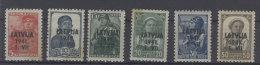 Lettland Michel No. 1 - 6 ** postfrisch / gelbfleckig