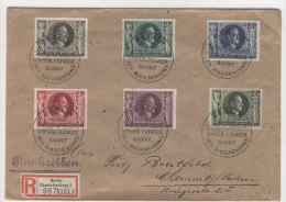 Deutsches Reich Michel No. 844 - 849 auf Brief